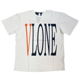 Vlone Orange/White Staple Tee