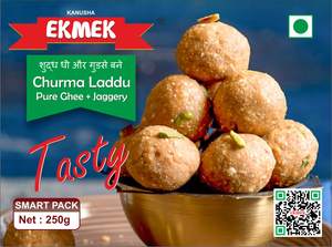 Sugar Free Churma Laddu (Pure Ghee & Gud) 250g