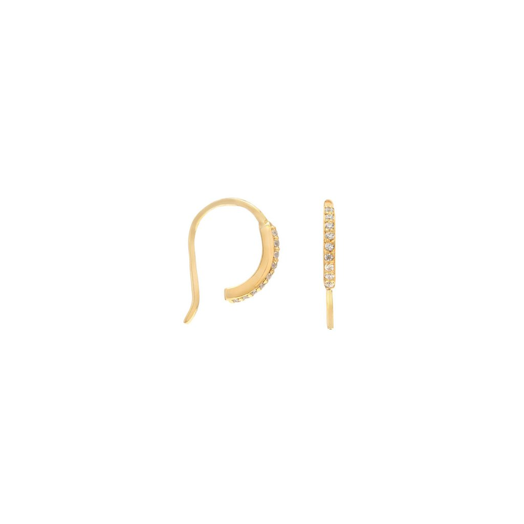 PAVE HOOK EARRING