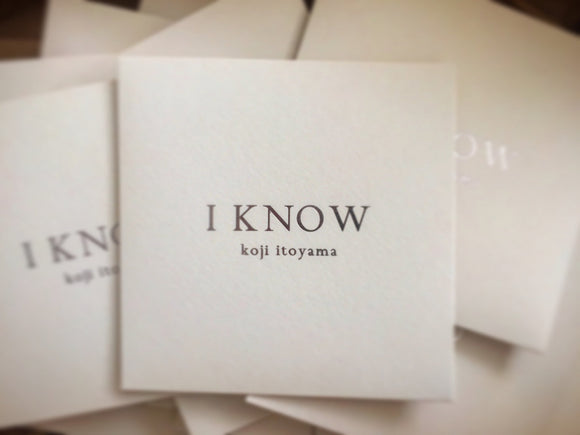 koji itoyama - I Know