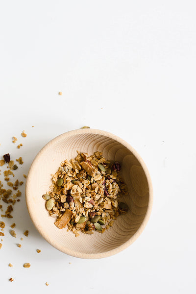 ... is my mom's homemade granola. Prep is only 10 minutes and after 45 more in the oven, you'll be set for a week or two (depending on who can reach the ...