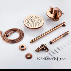 Kit Chuveiro Completo Rose Gold
