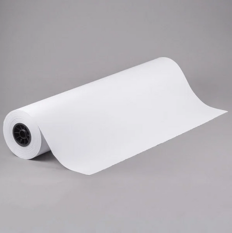 "15"" x 140' 40# White Butcher Paper Roll"