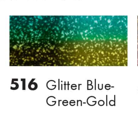 Marabu -Glitter Blue-Green-Gold  Easy Marble