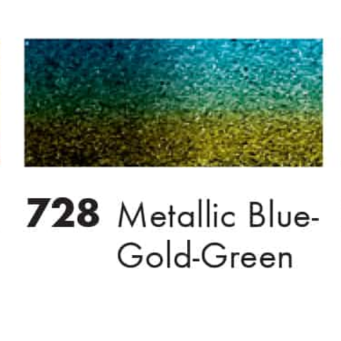 Marabu -Metallic Blue-Gold-Green  Easy Marble