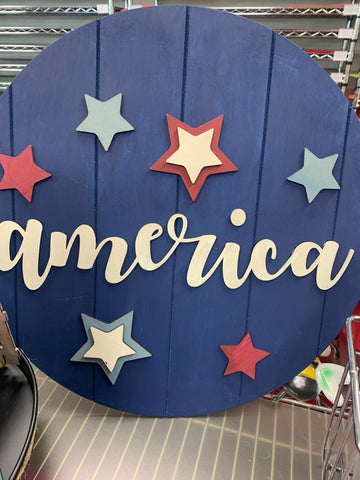 AMERICA Round Cut outs