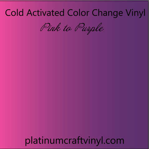 Cold Activated Pink Color Changing Vinyl