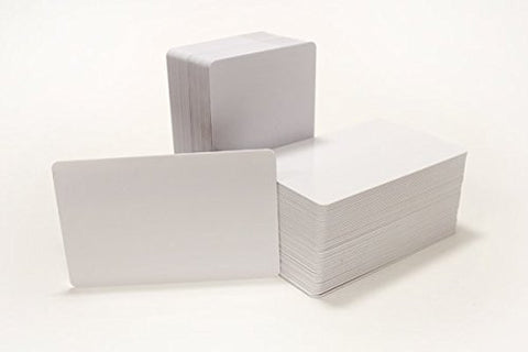 25 PVC Plastic cards for sticker application