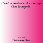 Cold Activated Clear to Magenta Color Changing Vinyl