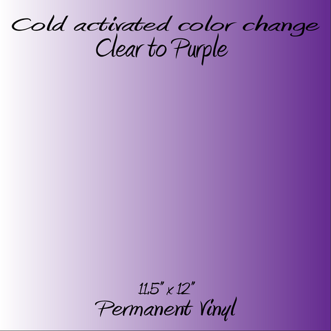 Cold Activated Clear to Purple Color Changing Vinyl