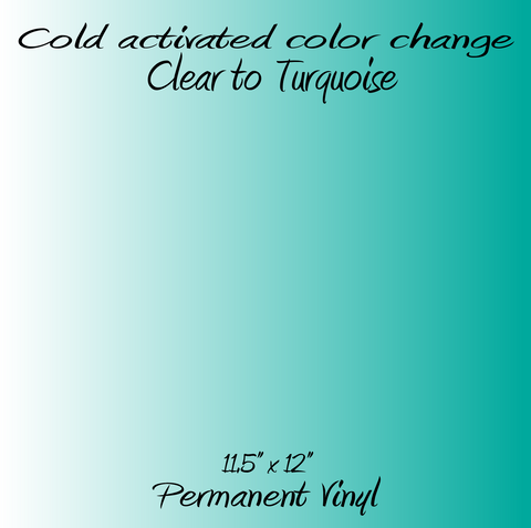 Cold Activated Clear to Turquoise Color Changing Vinyl
