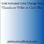 Cold Activated Blue Color Changing Vinyl