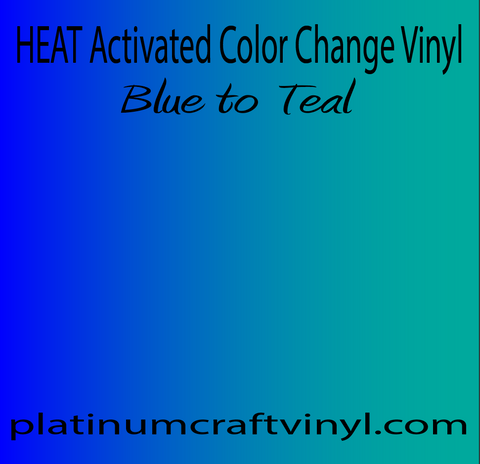 Heat activated Blue to Teal Color Changing Vinyl
