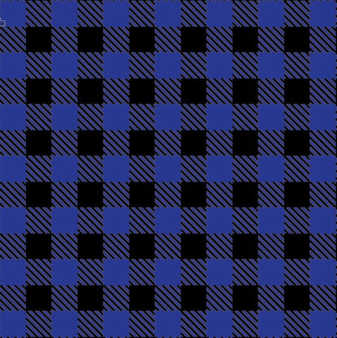 HTV BLUE Buffalo Plaid Patterns