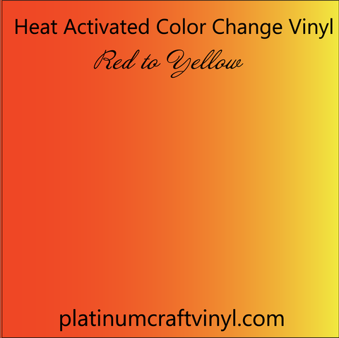 Heat Activated Red Color Changing Vinyl