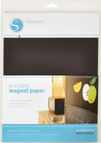 Silhouette Magnet Paper 4pk