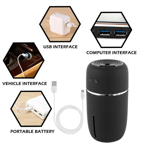 Portable LED Air Humidifier Essential Oil Diffuser Mini USB