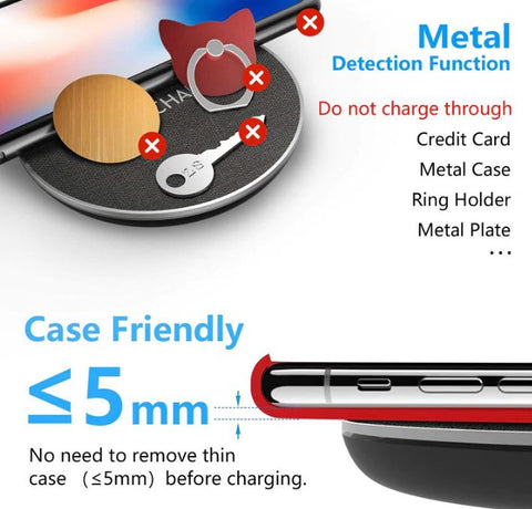 Fast Charge Wireless Charging Pad iPhone & Samsung