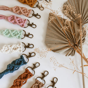 Macramé Keychains | Small | NEW COLORS | Mini Macrame Keychains w/ Tassel