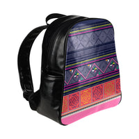 Blue Pink Backpack Multi-Pockets Backpack