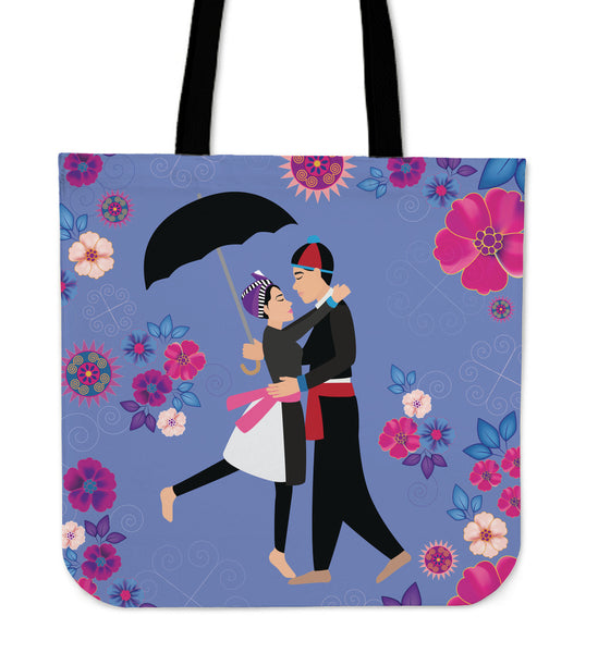 Hmong Couple Floral Tote