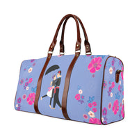 Hmong Couple Floral Duffle Weekender Travel Bag - Small