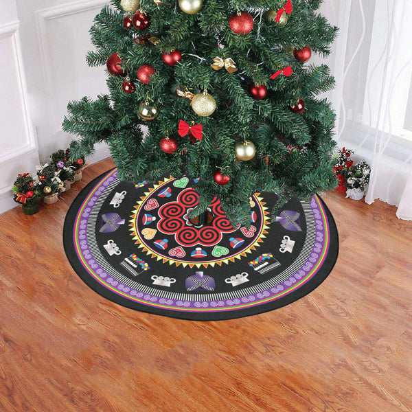 "Hmong Christmas Tree Skirt Christmas Tree Skirt 47"" x 47"""