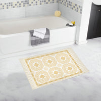 Gold Hmong Art Deco Bath Rug Bath Rug