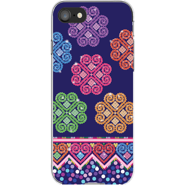 Hmong Cog Ci Faux Sequin iPhone Cover