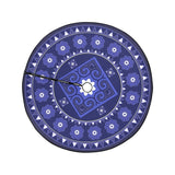 "Violet Blue Hmong Inspired Christmas Tree Skirt Christmas Tree Skirt 47"" x 47"""