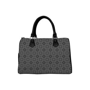 Black Hmong Elephant Footprint Motif Canvas Handbag