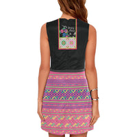 Hmong Dress with Xauv Necklace Print Design