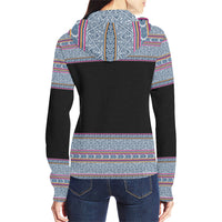 Women's Hmong Batik Zip Up Hoodie Jacket