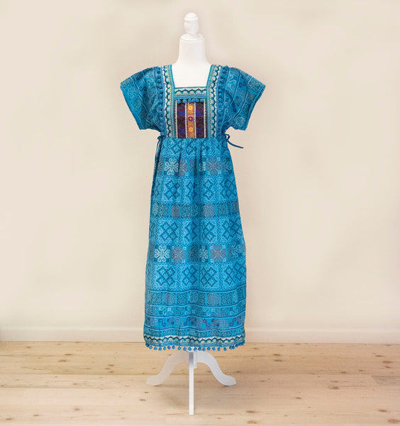 Women's Hmong Thai Batik Printed Canvas Long Dress
