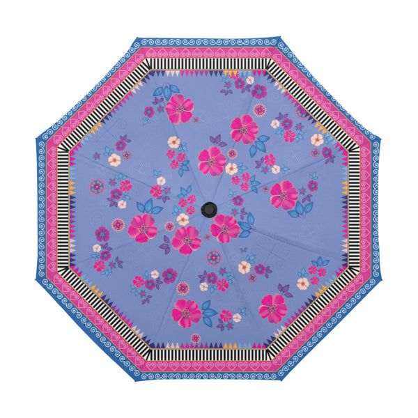 Floral Purple Hmong Umbrella