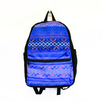 Blue Hmong Printed Tribal Backpack