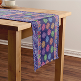 Hmong Cog Ci Faux Sequin Cotton Table Runner
