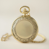 Gold Pocket Watch with Hmong Story Cloth Art