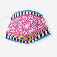 Reusable Cloth Face Mask with Pink & Stripe Print