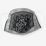 Reusable Cloth Face Mask - Black & White Detroit Strong Hmong Tribal Print