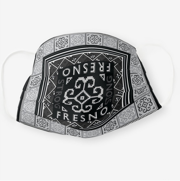 Reusable Cloth Face Mask - Black & White Fresno Strong Hmong Tribal Print