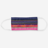 Reusable Cloth Face Mask with Hmong Blue & Orange Pattern