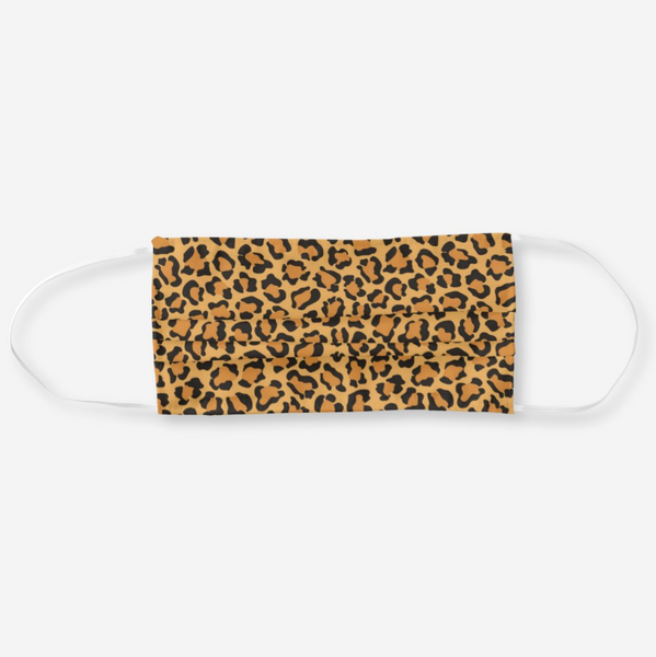 Reusable Cloth Face Mask - Faux Leopard Print
