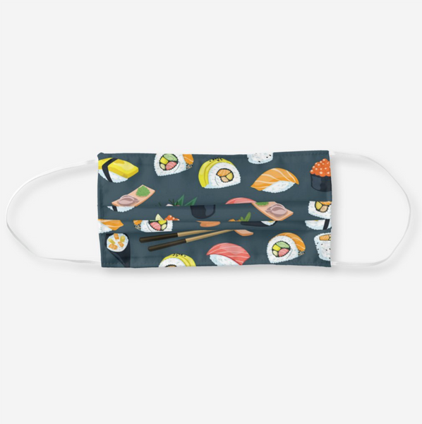 Reusable Cloth Face Mask - Sushi Pattern