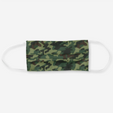 Reusable Cloth Face Mask - Green Camouflage Camo Print