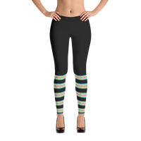 Stripe-Green-Hmong-Leggings