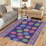 Purple Hmong Cog Ci Faux Sequin Area Rug 7'x5'
