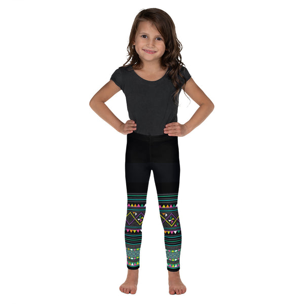 black-green-girls-leggings-front