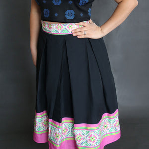 black-pink-hmong-skirt