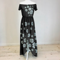 Off Shoulder Chiffon Dress with Hmong Elephant Motif